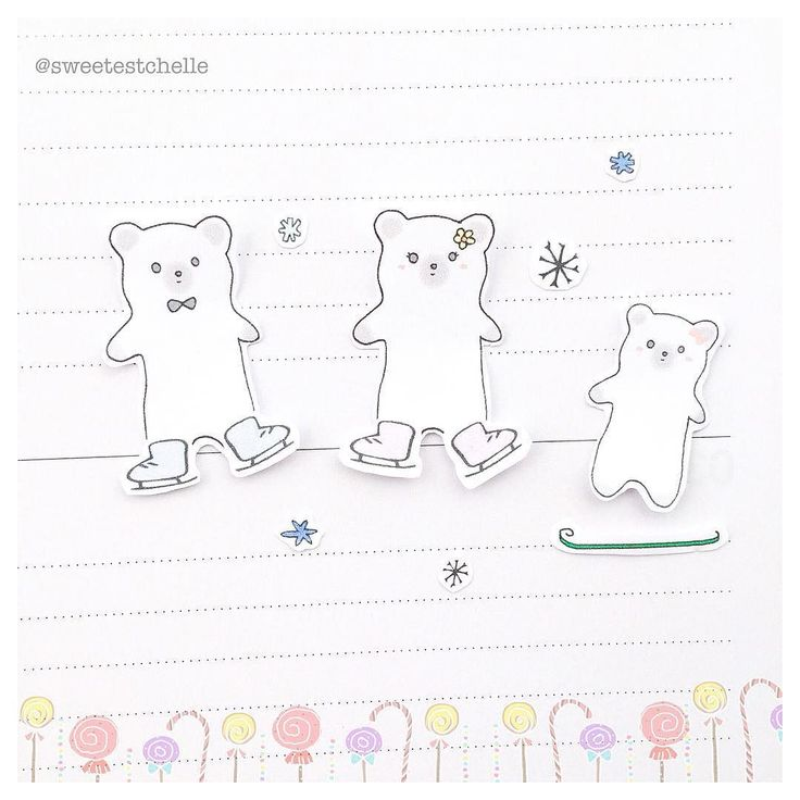 Sneak peaks of upcoming printables Hint: lots of cutie bears #plannerlove