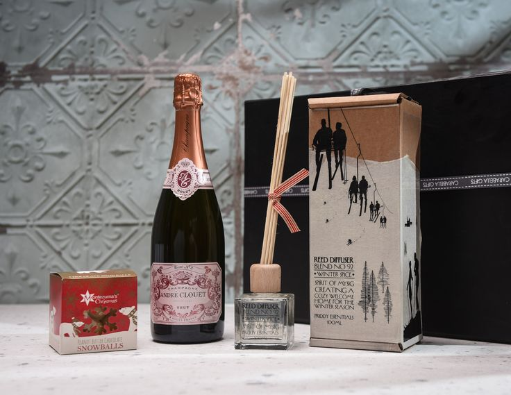 A lovely selection of Christmas gifts that your recipient truly deserves.  Enjoy the organic prosecco whilst relaxing amongst the calming aroma of the winter spice diffuser.  Then when no one is looking treat yourself to these naughty but extremely nice Montezuma peanut butter chocolate snowballs. https://carabellagifts.com/shop/a-winter-hamper-2/