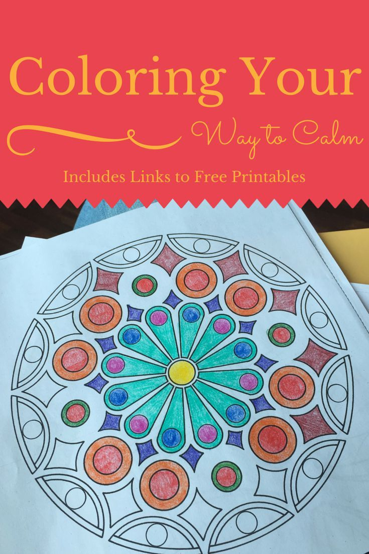 Coloring My Way to Calm with Links to Free Coloring Sheets