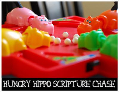 Hungry Hippo Scripture Chase game... 4 teams: Remember, 80S, Stuff, Hungry Hungry Hippos, Childhood Memories, Hunger Games, The Originals, Kid
