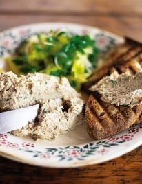 Smoked mackerel pate with griddled toast & cress salad