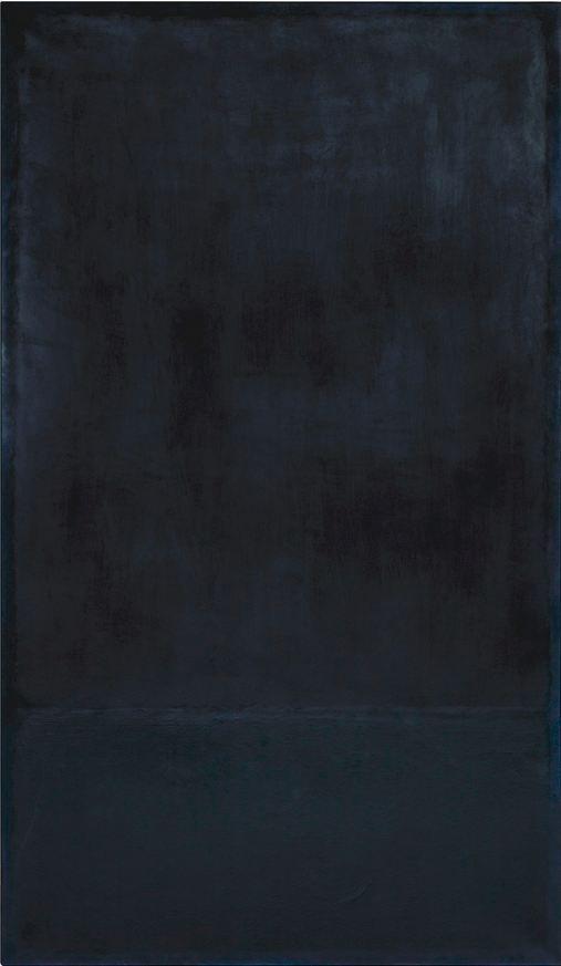 Mark Rothko, oil on paper laid on canvas, 1969