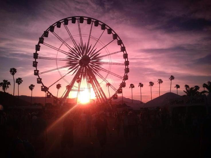 The famous Coachella ferris wheel. Indio, California