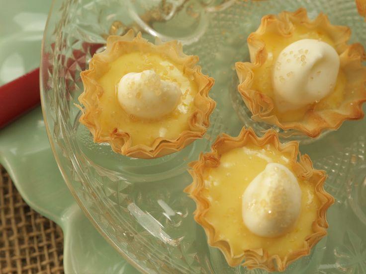 Meyer Lemon Shake-Up Tarts recipe from Damaris Phillips via Food Network