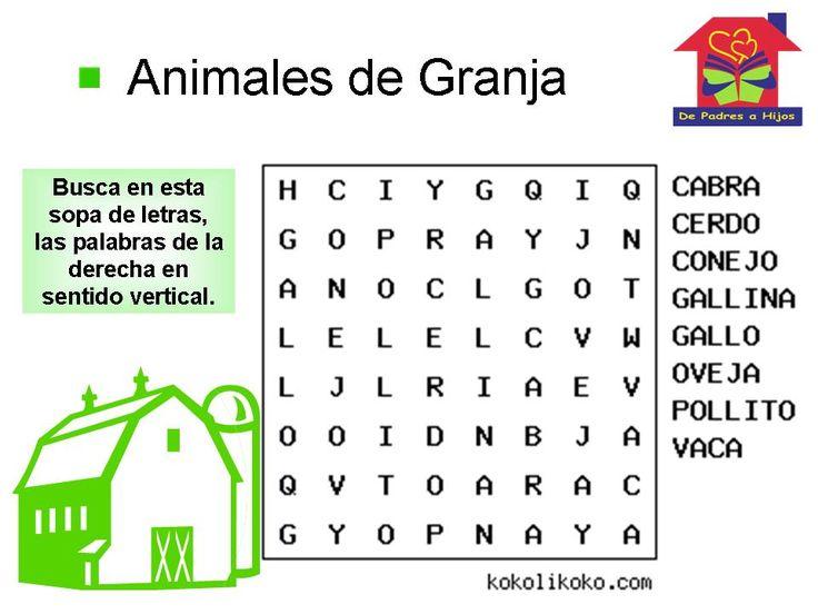 Juegos de letras para preescolares