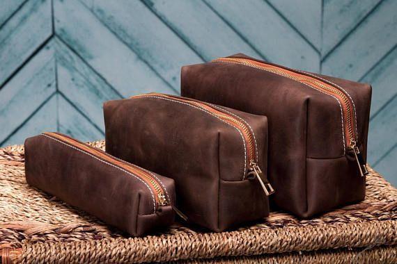 Leather Dopp Kit Custom Groomsmen Gift Leather Shaving Kit