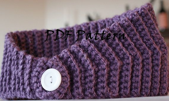 PDF Pattern for Crochet Winter Headband/Earwarmers by jkwdesigns, $2.49