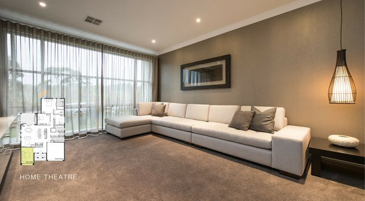 Enjoy your very own theatre with all the comforts of home. #weeksbuilding #home #house #lounge #interior #decorating