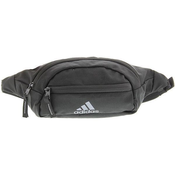 adidas Rand II Waist Pack Black Bags ($20) ❤ liked on Polyvore featuring bags, black, adidas bag, hip fanny pack, waist pack bag, belt fanny pack and fanny pack bags