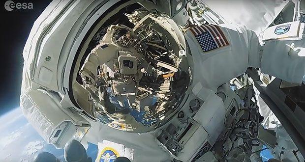 Thomas Pesquet en balade dans l'espace, une caméra embarquée immortalise le moment (Ginjfo)