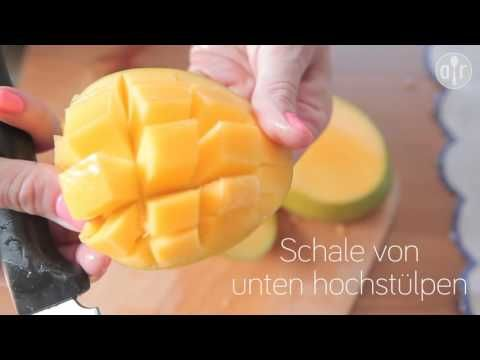Anleitung : Mango schälen und schneiden