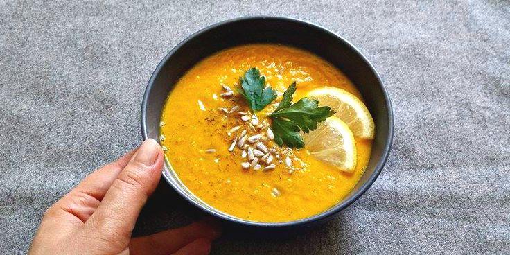 krem z marchwi curry