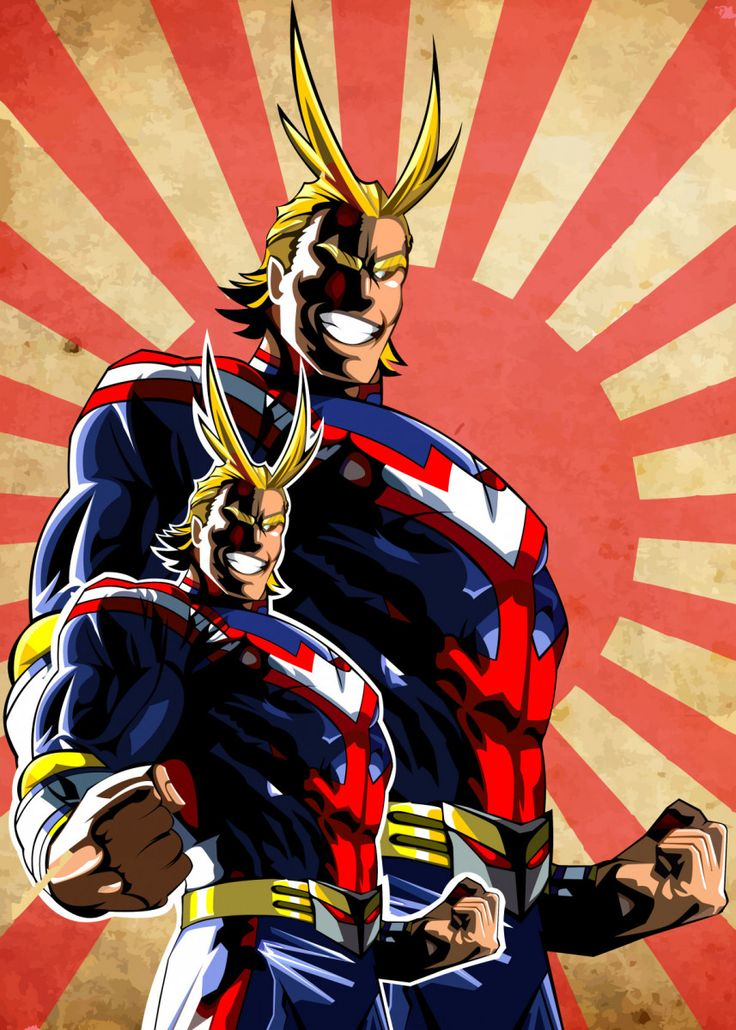 All might poster art print by fill art displate