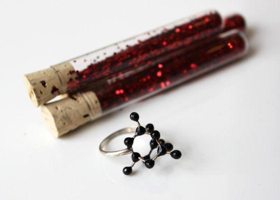 Diamond Molecule Ring--the affordable diamond ring by Slashpile Designs