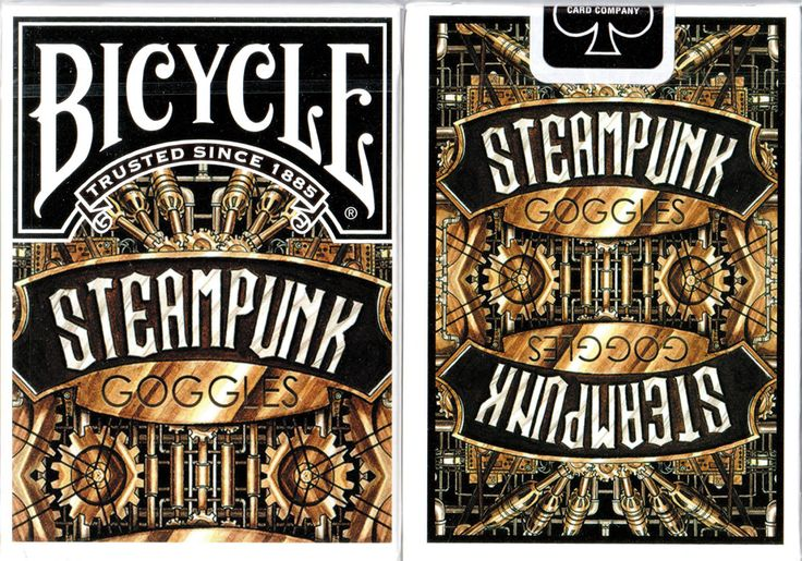 Bicycle Steampunk Goggles Playing CardsNow available at: http://www.playingcards4magic.com/collection/