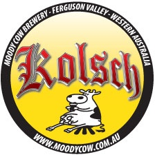 Another new beer logo for the Moody Cow Brewery - this time it's their brand new style of beer, the German wheat beer, Kolsch.