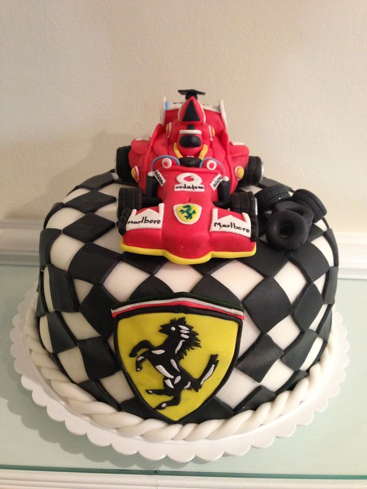 20 best f1 images on pinterest ferrari cake car cakes for F1 car cake template