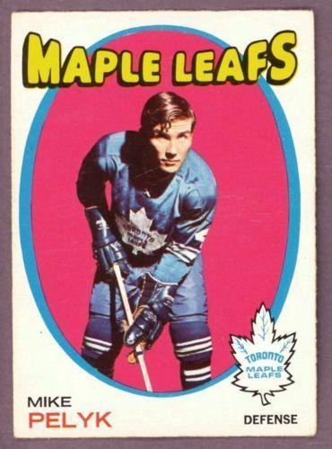1971 72 Topps 92 MIKE PELYK EX+ TORONTO MAPLE LEAFS CARD #TorontoMapleLeafs