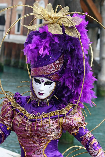 Oh yes - lots of purple at Carnevale in Venice Italy every year...