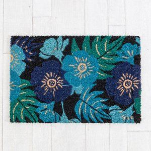 Blossom Blue Door Mat