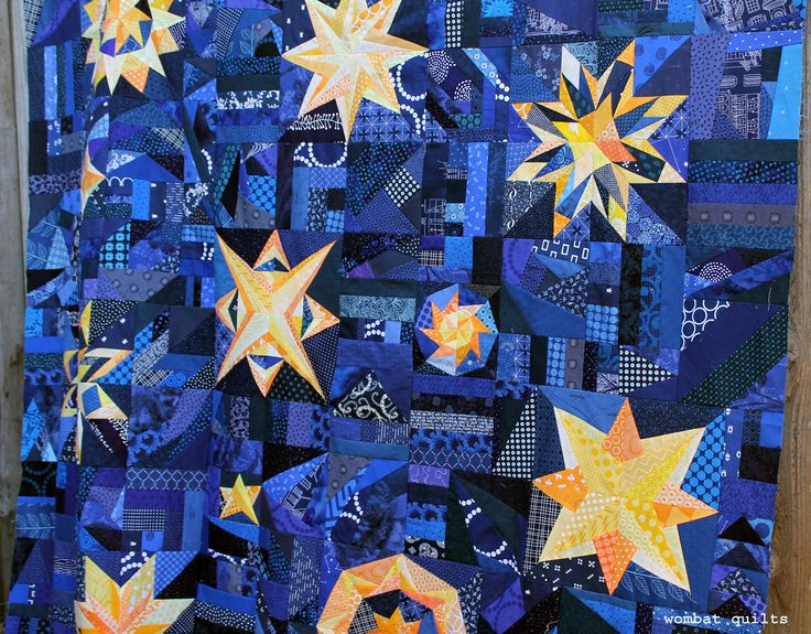 16 best Starry night quilt images on Pinterest | Starry nights ... : starry night quilt pattern - Adamdwight.com