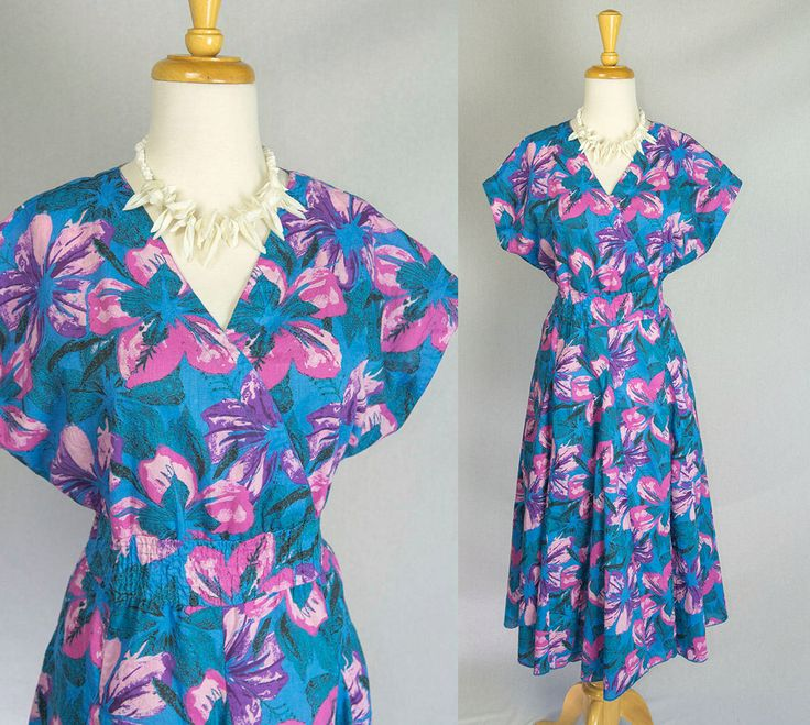 Vintage 80s Circle Dress Electric Blue Hawaiian Pin-up M Gorgeous Skirt! by madvintage on Etsy https://www.etsy.com/uk/listing/493687243/vintage-80s-circle-dress-electric-blue