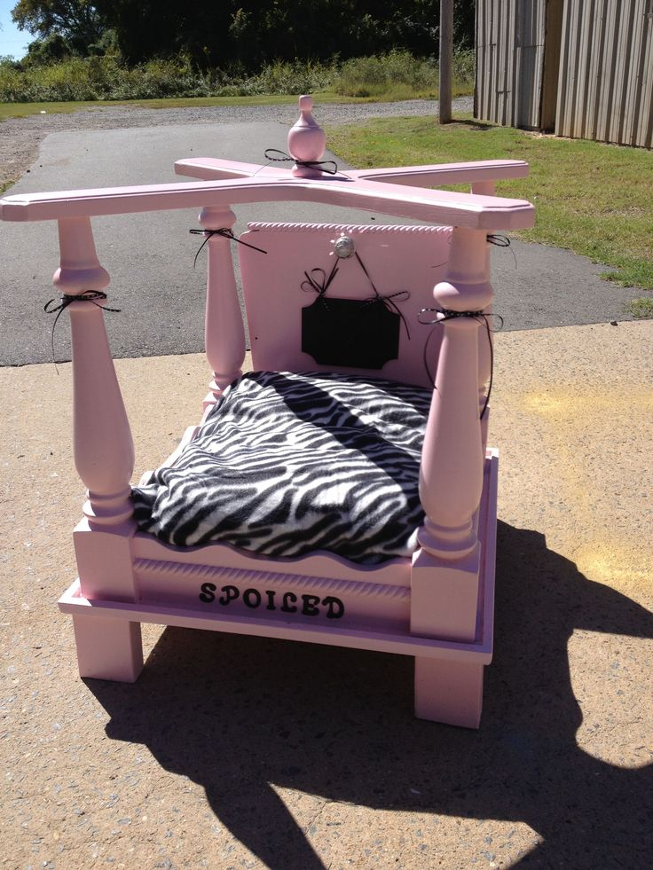 dog bed made from end table doggie beds by kristy george. Black Bedroom Furniture Sets. Home Design Ideas