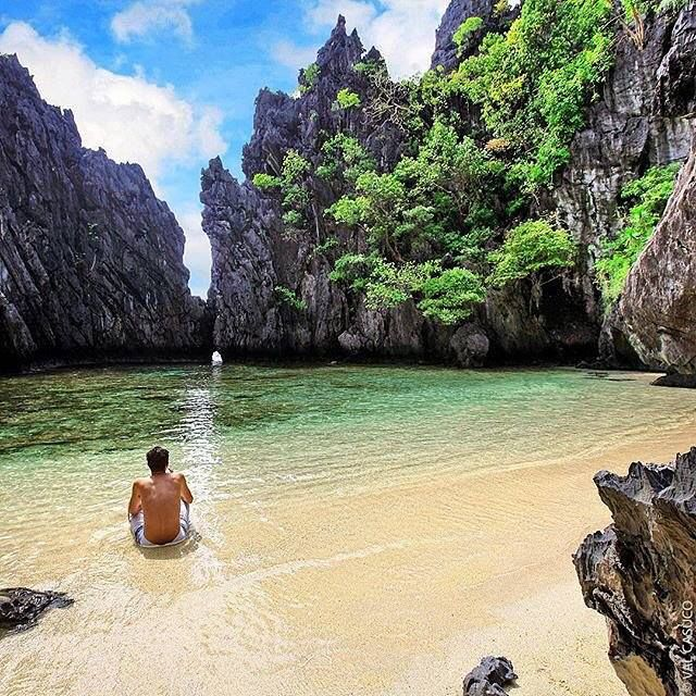 Secret Beach El Nido Palawan  Philippines  Photo by @prince_valdoe  #elnido #palawan #philippinesFun Travel in the Philippines (y)