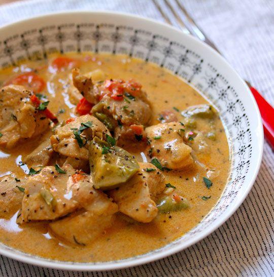 África Occidental pollo y estofado de maní: sin gluten, sin leche, partido fácil!