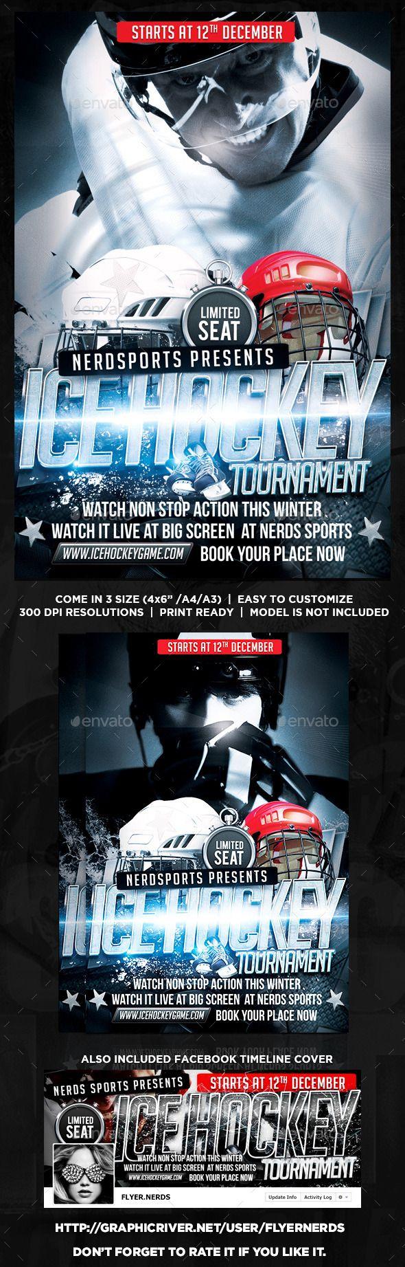 Hockey Tournament Flyer 17 best Sports Flyers