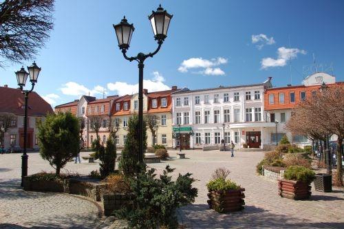 Pojezierze Drawskie, Market Square in Połczyn-Zdrój #Poland