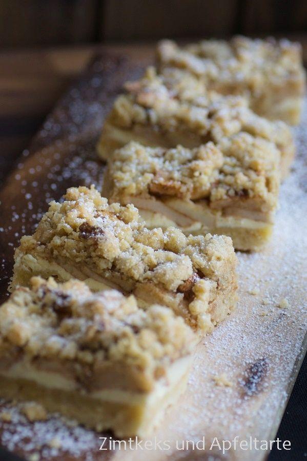 Zimtkeks und Apfeltarte: Apfel-Cheesecake mit Walnuss-Streuseln und Karamel...