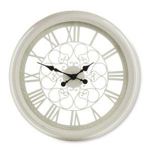 Cream Cut Out Wall Clock