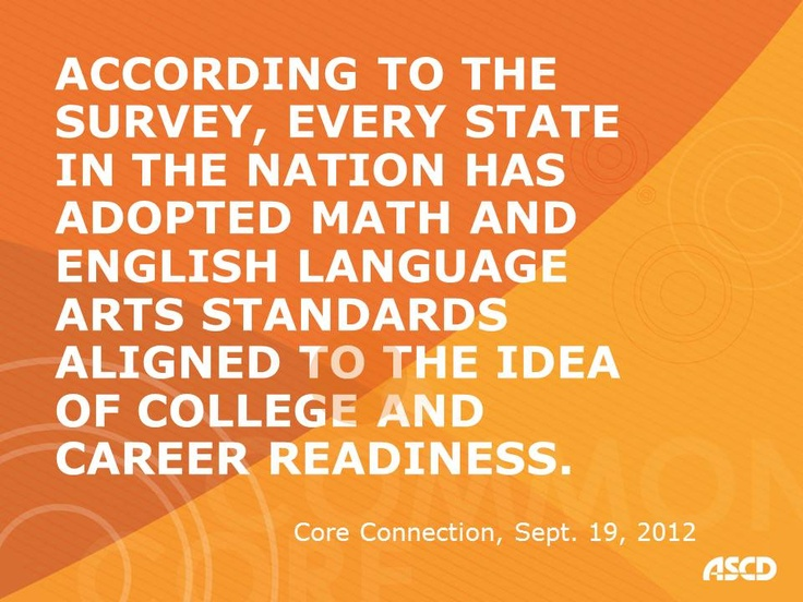 More States Committing to College and Career Readiness, Core Connection, Sept. 19, 2012