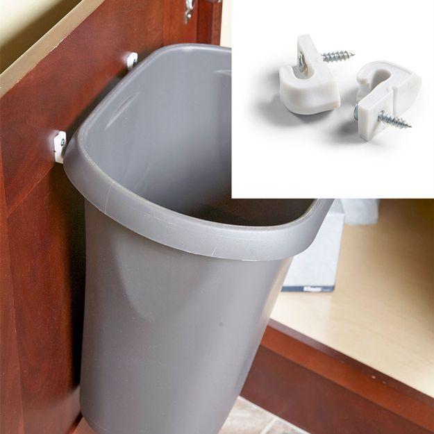 DIY Swinging Trash Can | Creative DIY Bathroom Storage Ideas by DIY Ready at  http://diyready.com/organization-hacks-bathroom-storage-ideas/