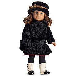 American Girl Rebecca's Winter Coat: velveteen coat with matching faux fur muff (hat not included) - WISH LIST