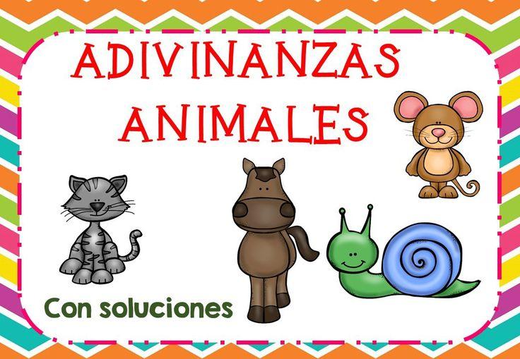 COMPRENSIÓN LECTORA Colección de adivinanzas de animales con soluciones listas para imprimir -Orientacion Andujar