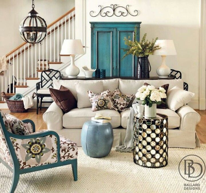 LOVE The Light Painted Walls With Walls Matching Sofa Color THEN The  Accents Are In Fun Colored Furniture And Accents! By Betsy
