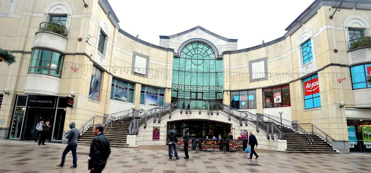 The Queens Arcade shopping centre, Cardiff city centre.