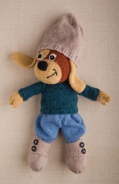 Master William Woof Dog and Outfit Free Knitting Pattern here: http://www.sweetlivingmagazine.co.nz/knit-a-dog/