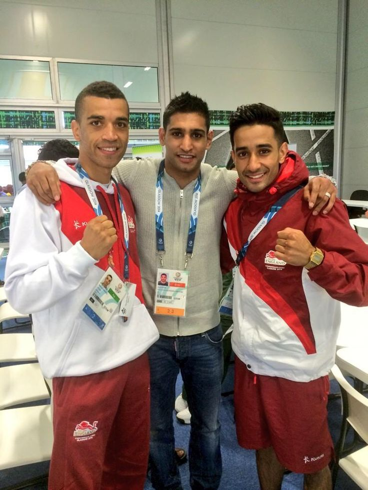 Glasgow 2014 Commonwealth Games with A close Friend and former 2x World Champion Amir Khan