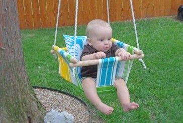 DIY Canvas Baby Swing