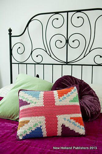 Ravelry: Union Jack Cushion pattern by Natalie Clegg