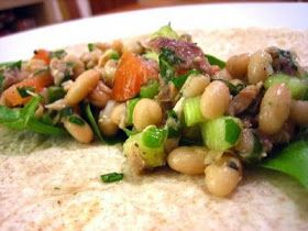 Cheap Healthy Good - Frugal Recipes, Food Tips, No Mayo: Tuna and White Bean Wraps: An End-of-Winter Craving