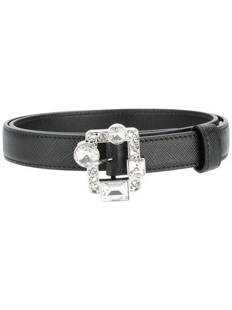 025748dfcd3597 Prada embellished buckle belt | other | Belt buckles, Belt, Prada