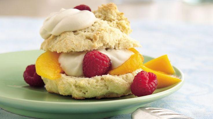 Betty Crocker's Diabetes Cookbook shares a recipe! It's okay to indulge in a sweet treat of fresh fruits, yogurt-cream and a freshly baked shortcake.