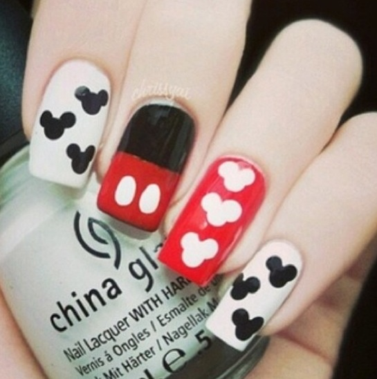 Mickey Mouse Nails: 51 Best Images About Minnie And Mickey Mouse Nails On