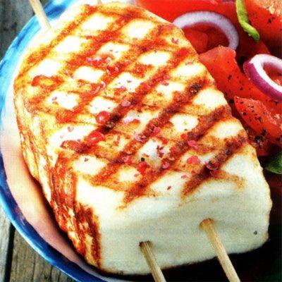 Адыгейский сыр на гриле
