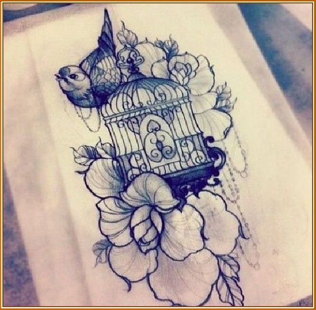Vintage Bird Cage Tattoo
