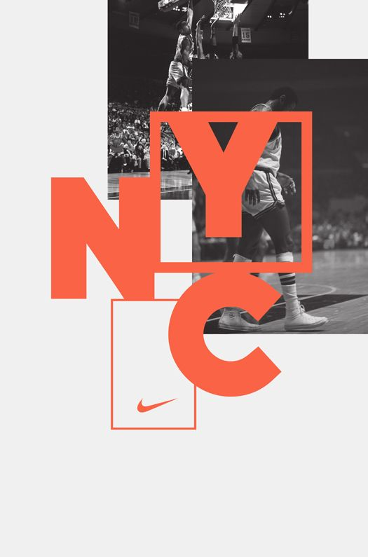 Nike campaign by Hort design studio.